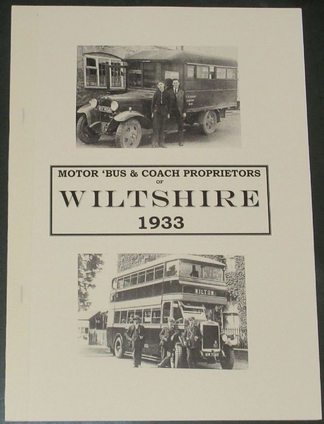 Motor 'Bus and Coach Proprietors of Wiltshire 1933, by Roger Grimley